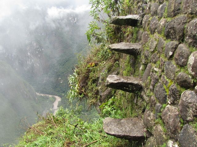 Death Stairs of Huayna Picchu, Peru