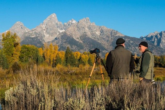 Filming in Jackson Hole