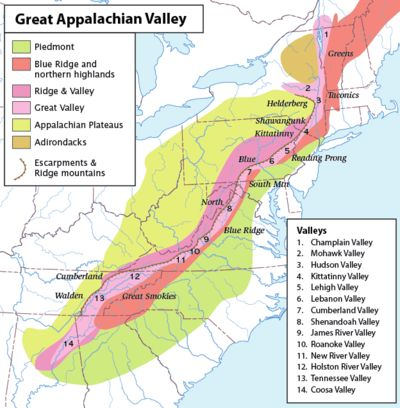 Great Valley Map