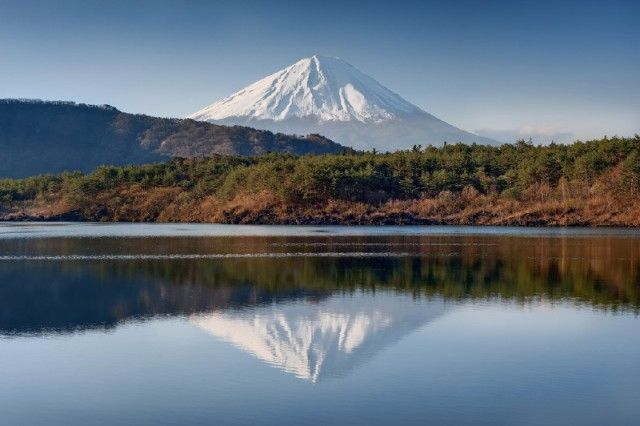 Lake Saiko and Mt. Fuji, Japan