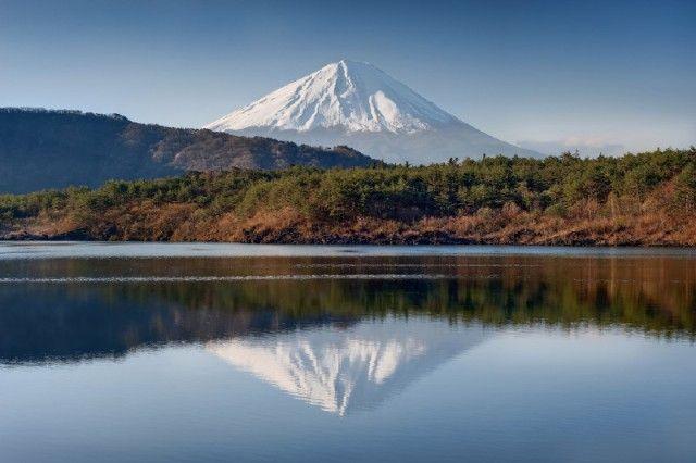 Lake Saiko and Mt. Fuji, Japan