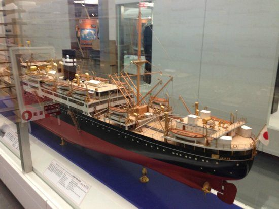 Model of a Ship in Yokohama Port Museum, Japan