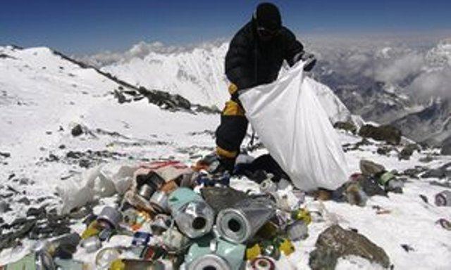 Mont Blanc human waste