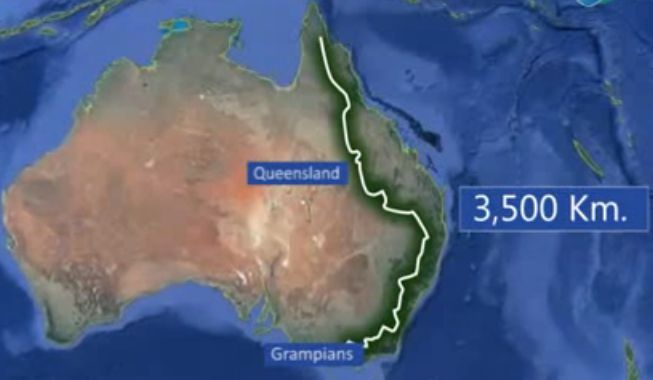10 Interesting Facts About Great Dividing Range | OhFact! on victoria state australia map, great artesian basin australia map, tasman sea australia map, kimberley australia map, deserts in australia map, barkly tableland australia map, western plateau australia map, lakes in australia map, melbourne australia on map, swan valley australia map, aboriginal australia map, gibson desert australia map, kalgoorlie australia map, tasmania australia map, tanami desert australia map, murray river australia map, australia landforms map, albany australia map, canberra australia map, south west australia map,