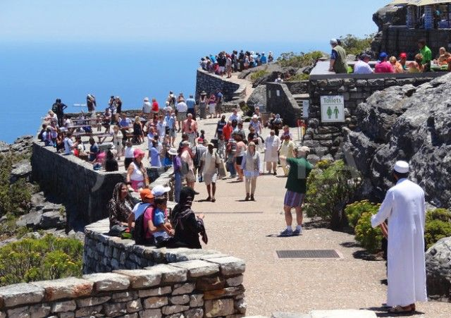 Tourists on Table Mountain, Cape Town
