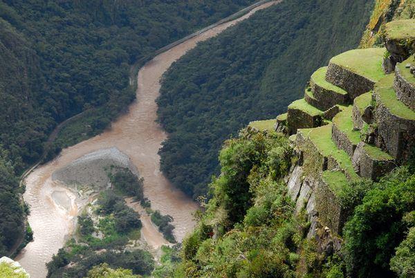 Urubamba River view from Machu Picchu, Peru