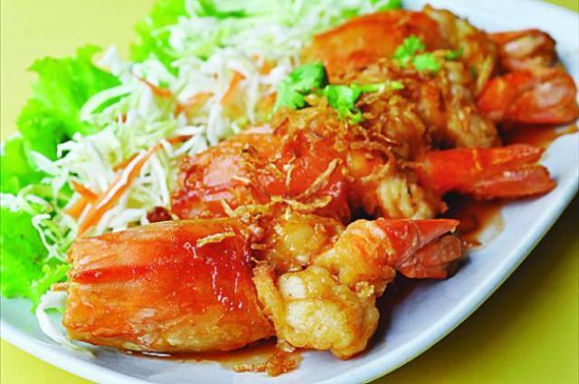 Grilled Jumbo Prawns in tamarind sauce