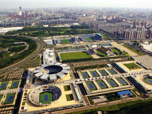 Aerial View of Beijing Olympic Park