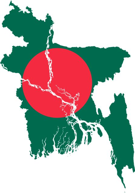 Flag Map of Bangladesh