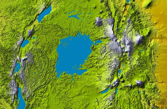 Lake Victoria at center from height