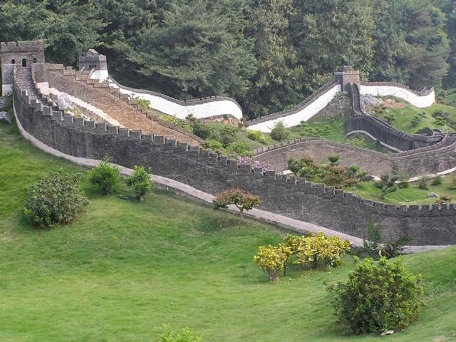 Miniature of Great Wall of China, in Splendid China Folk Village