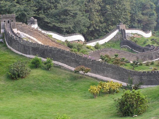 Miniature of Great Wall of China, in Splendid China Folk Village