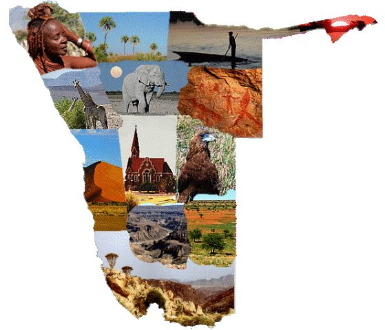 Namibia Images in Map