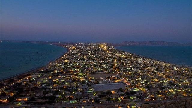 Night View of Gwadar Port