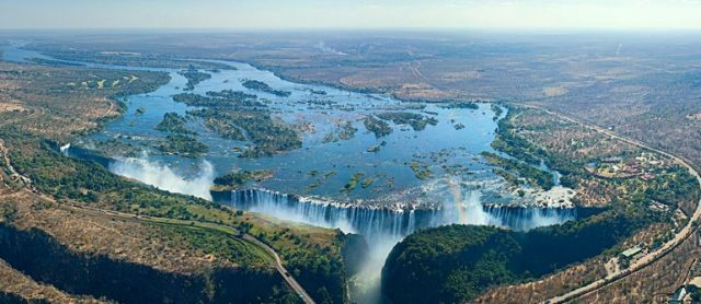 Panoramic View of Victoria Fall, Zimbabwe