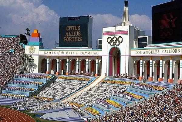 1984 Olympics ceremony