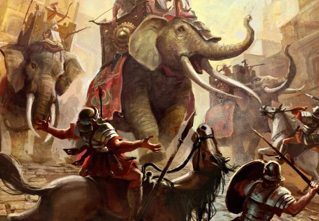 Elephants were used in wars earlier