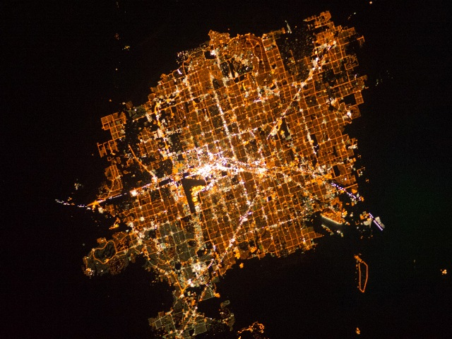 Las Vegas Strip from International Space Station