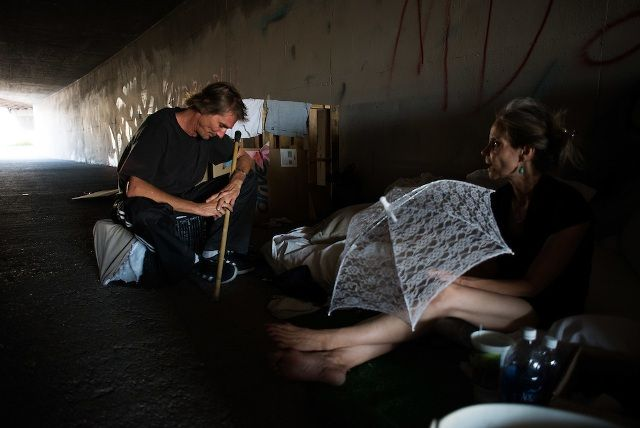 People living in tunnel in Las Vegas