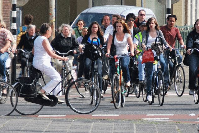 People love bicycle riding in Netherlands