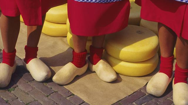People wearing Wooden Shoes