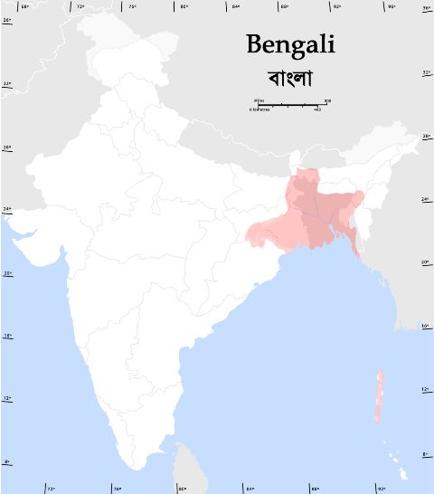 Region of Bengali Language
