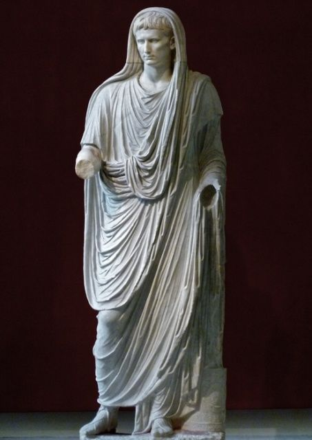 Statue of Augustus Caesar wearing Toga Cloth