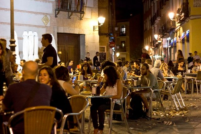 La Latina Nightlife, Madrid, Spain