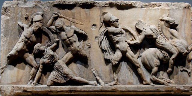 Amazonomachy Mausoleum of Halicarnassus, British Museum, London