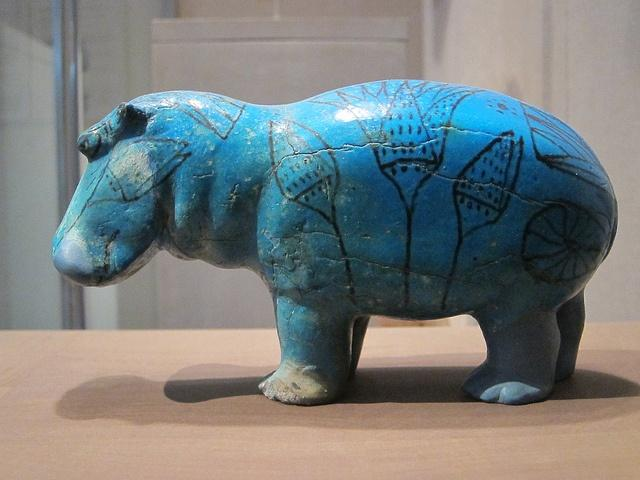 Ancient Egyptian hippopotamus statuette
