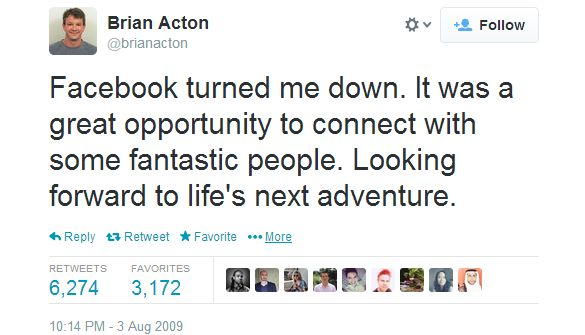 Brian Acton Tweet