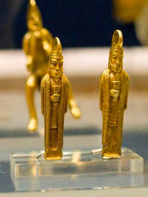 Gold statuettes from the Oxus Treasure by Nickmard Khoey
