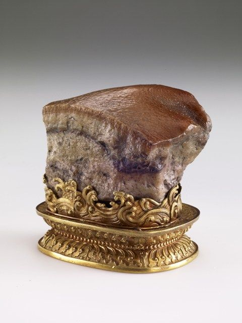 This artifact from the Qing Dynasty, which resembles a piece of stewed pork