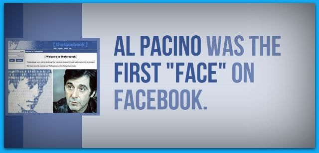 Al Pacino was the first face