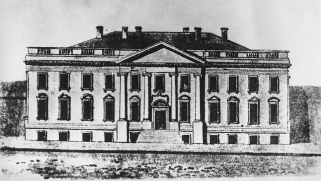 A Drawing of the First White House