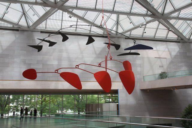 Calder Mobile at National Gallery of Art, Washington, D.C.