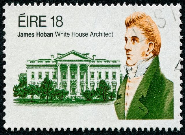 James Hoban at the stamp of White House