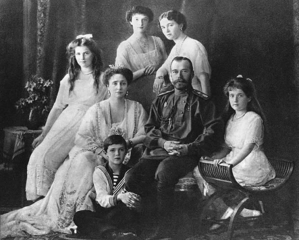 Romanov Tsars, (Center) with his family