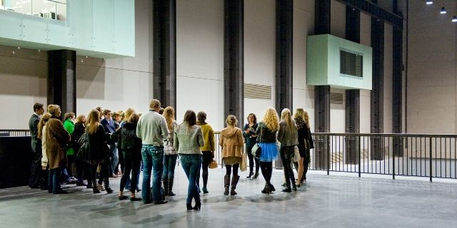 Visitors in Tate Modern, London