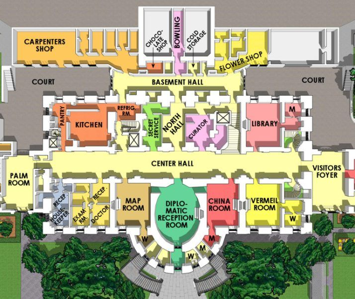 17 interesting facts about white house ohfact white house map mightylinksfo