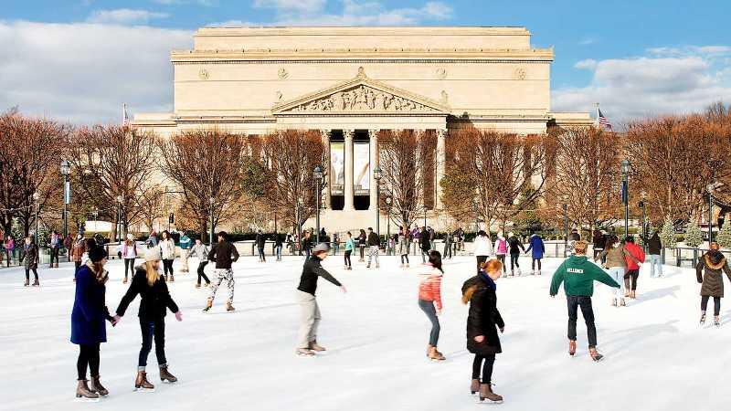 Ice Skating at National Gallery