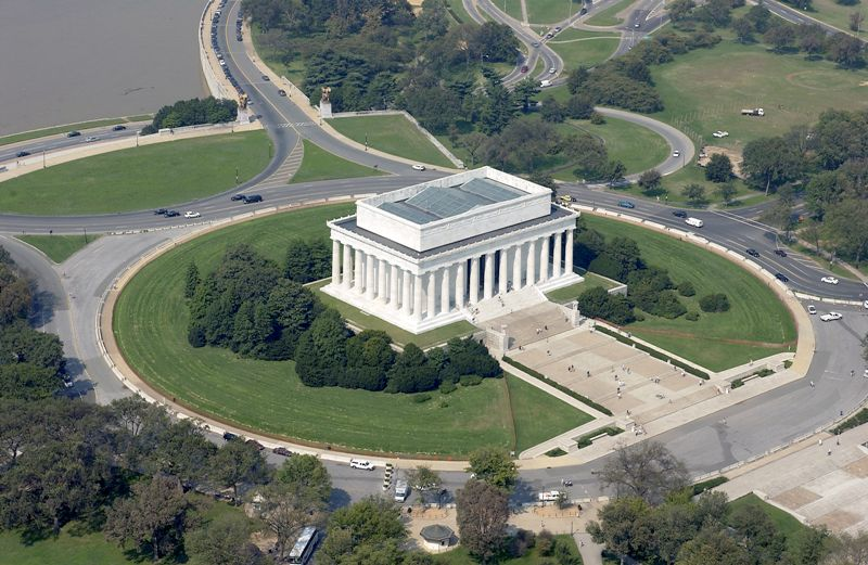 Aerial View of Lincoln Memorial