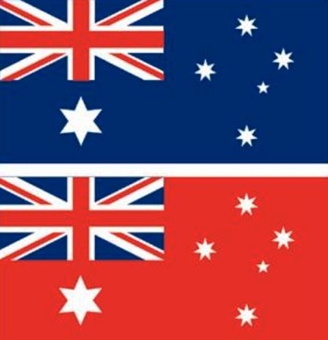 Australian Flag Blue Vs Red