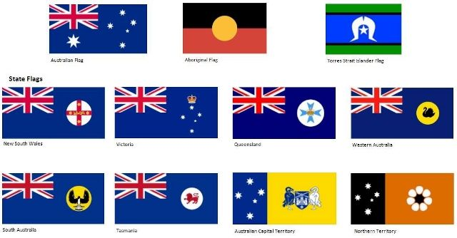 Australian State and Territory Flags