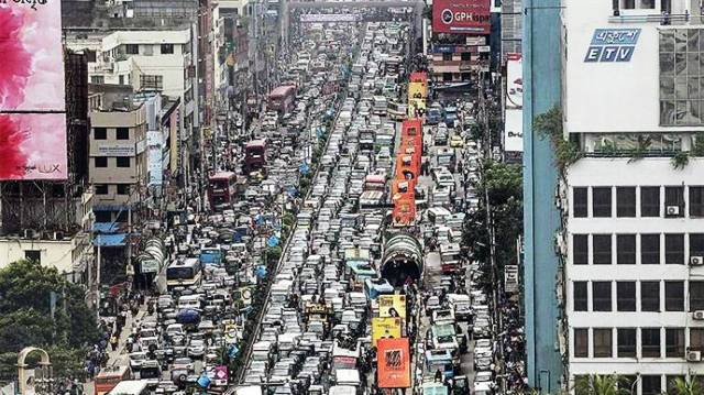 Dhaka Traffic Jams