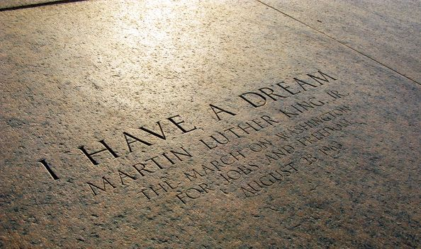 I have a dream inscribed on the step of memorial