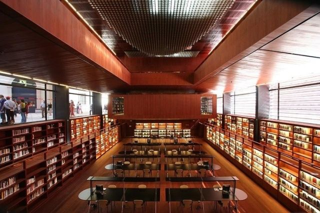 Library in Reina Sofia, Madrid