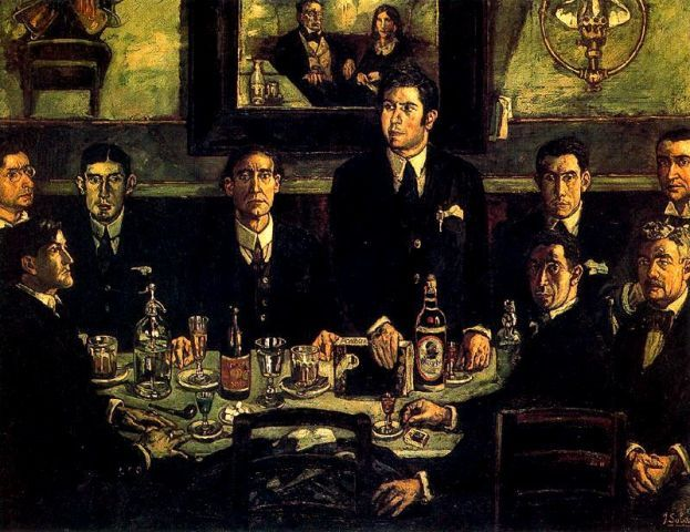 "José Solana's ""The Gathering at the Café Del Pombo"""