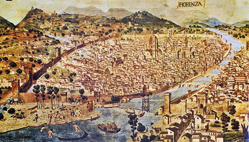 Florence Old Map
