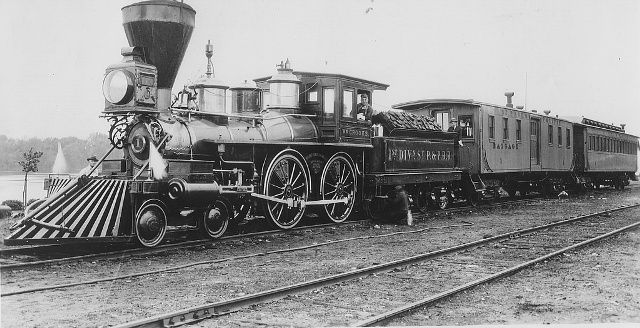 One of the first locomotives in America